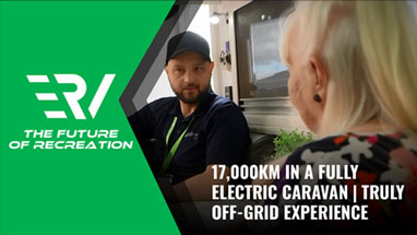 17000km in a fully electric caravan
