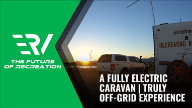 a fully electric caravan